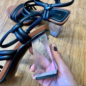 Clear lucite sandals